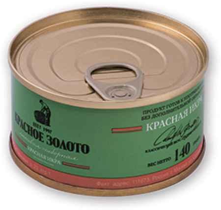 Купить Красное золото Икра Красное золото лососевая отборная красная 140г