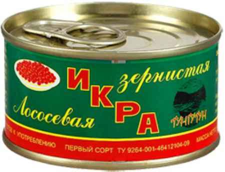 Купить Тунгутун Икра Тунгутун лососевая зернистая красная 140г